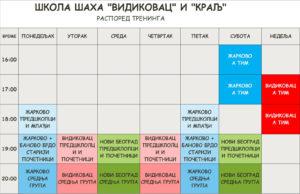 Распоред за школу шаха